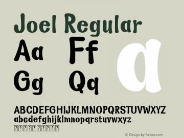 Joel Version 1.00;October 18, 2019;FontCreator 11.5.0.2430 64-bit图片样张