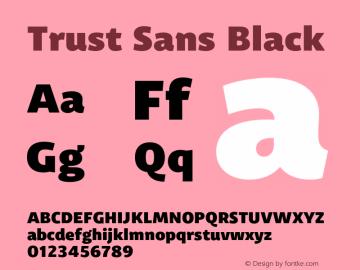 Trust Sans Black Version 1.000;hotconv 1.0.109;makeotfexe 2.5.65596图片样张