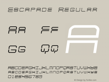 Escapade Regular 2 Font Sample