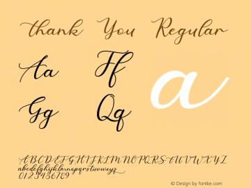 Thank You Version 1.002;Fontself Maker 3.3.0图片样张