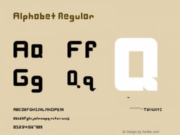 Alphabet Regular Version 1.0 Font Sample