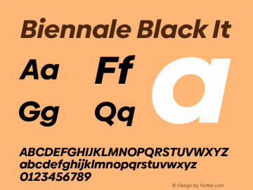Biennale Black It Version 1.001;hotconv 1.0.109;makeotfexe 2.5.65596图片样张