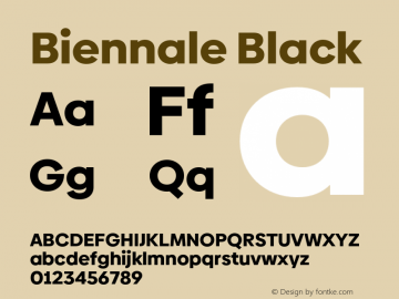 Biennale Black Version 1.001;hotconv 1.0.109;makeotfexe 2.5.65596图片样张