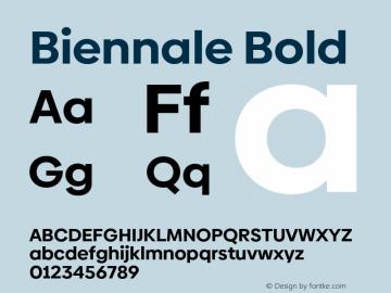 Biennale Bold Version 1.001;hotconv 1.0.109;makeotfexe 2.5.65596图片样张