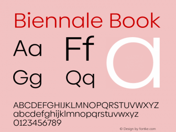 Biennale Book Version 1.001;hotconv 1.0.109;makeotfexe 2.5.65596图片样张