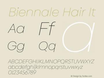 Biennale Hair It Version 1.001;hotconv 1.0.109;makeotfexe 2.5.65596图片样张