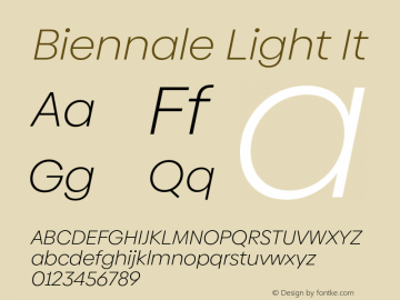 Biennale Light It Version 1.001;hotconv 1.0.109;makeotfexe 2.5.65596图片样张
