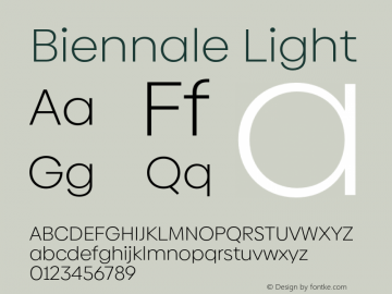 Biennale Light Version 1.001;hotconv 1.0.109;makeotfexe 2.5.65596图片样张