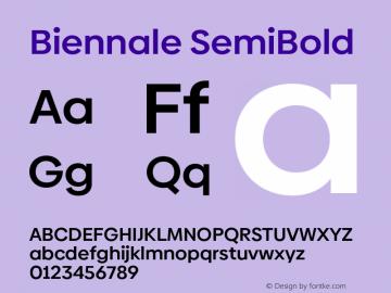 Biennale SemiBold Version 1.001;hotconv 1.0.109;makeotfexe 2.5.65596图片样张
