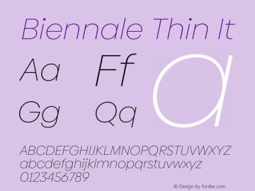 Biennale Thin It Version 1.001;hotconv 1.0.109;makeotfexe 2.5.65596图片样张