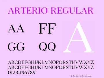 Arterio Version 1.002;Fontself Maker 3.1.1图片样张