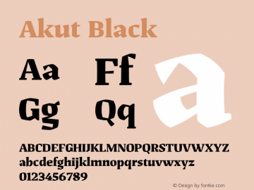 Akut Black Version 1.000;PS 001.000;hotconv 1.0.88;makeotf.lib2.5.64775图片样张