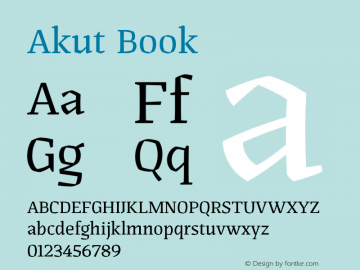Akut Book Version 1.000;PS 001.000;hotconv 1.0.88;makeotf.lib2.5.64775图片样张