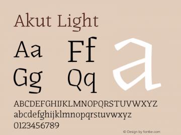 Akut Light Version 1.000;PS 001.000;hotconv 1.0.88;makeotf.lib2.5.64775图片样张