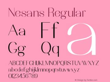 Nesans Version 1.002;Fontself Maker 3.4.0图片样张