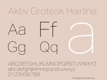 Aktiv Grotesk Hairline Version 1.013;com.myfonts.easy.daltonmaag.aktiv-grotesk.hairline.wfkit2.version.4cyp图片样张