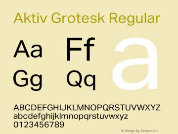 Aktiv Grotesk Regular Version 1.013;com.myfonts.easy.daltonmaag.aktiv-grotesk.regular.wfkit2.version.4cyx图片样张
