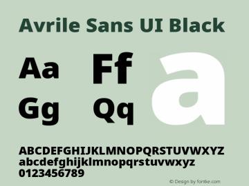 Avrile Sans UI Black Version 1.001;November 7, 2019;FontCreator 12.0.0.2547 64-bit图片样张