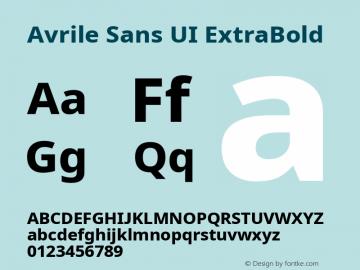 Avrile Sans UI ExtraBold Version 1.001;November 7, 2019;FontCreator 12.0.0.2547 64-bit图片样张