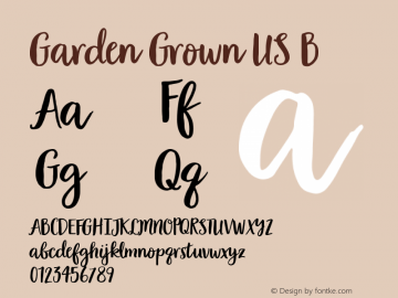 Garden Grown US B Version 1.000图片样张
