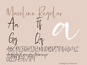 Maveline Version 1.002;Fontself Maker 3.1.1图片样张