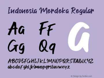Indonesia Merdeka Version 1.00;August 28, 2019;FontCreator 11.5.0.2422 64-bit图片样张
