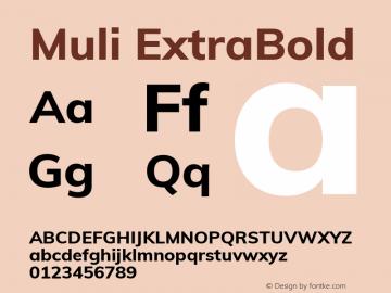 Muli ExtraBold Version 2.000 Font Sample