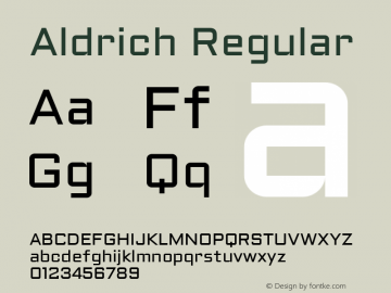 Aldrich Regular Version 1.002 2011图片样张