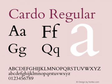 Cardo Version 1.0451 Font Sample