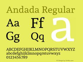 Andada Regular Version 1.002图片样张