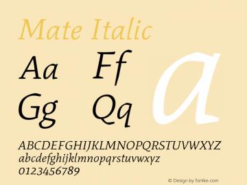 Mate Italic Version 1.002图片样张