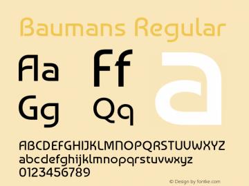 Baumans Regular Version 001.002 Font Sample