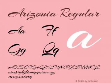 Arizonia Regular Version 1.004图片样张