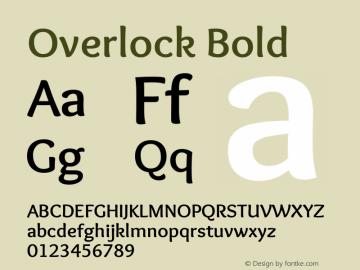 Overlock Bold Version 1.002图片样张