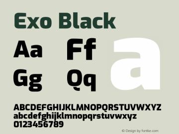 Exo Black Version 1.500; ttfautohint (v1.6)图片样张