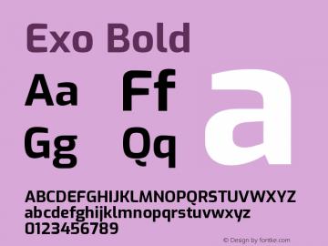 Exo Bold Version 1.500; ttfautohint (v1.6)图片样张