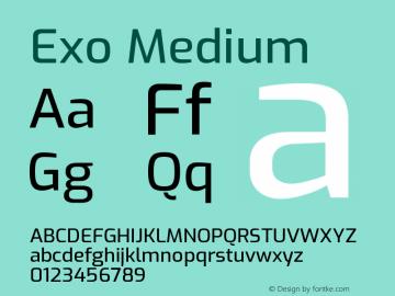 Exo Medium Version 1.500; ttfautohint (v1.6)图片样张