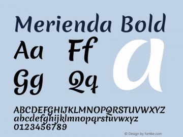Merienda Bold Version 1.001图片样张