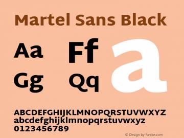 Martel Sans Black Version 1.002; ttfautohint (v1.1) -l 5 -r 5 -G 72 -x 0 -D latn -f none -w gGD -W -c Font Sample