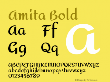Amita Bold Version 1.004图片样张