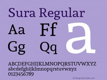 Sura Version 1.003;PS 001.002;hotconv 1.0.70;makeotf.lib2.5.58329 DEVELOPMENT; ttfautohint (v1.00) -l 8 -r 50 -G 200 -x 14 -D latn -f none -w G图片样张