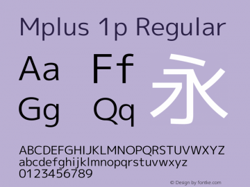 Mplus 1p Version 1.061 Font Sample