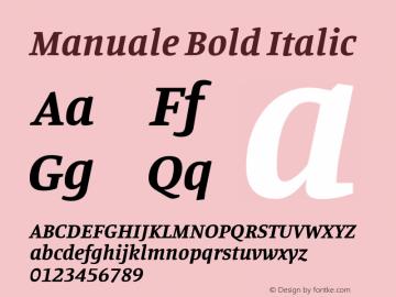 Manuale Bold Italic Version 0.075图片样张