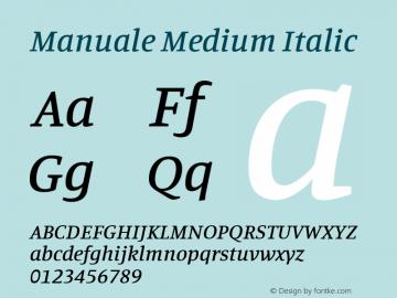 Manuale Medium Italic Version 0.075图片样张