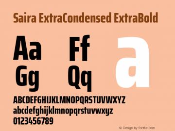 Saira ExtraCondensed ExtraBold Version 0.072图片样张