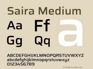 Saira Medium Version 0.072图片样张