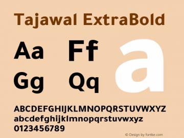 Tajawal ExtraBold Version 1.700图片样张