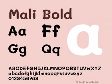 Mali Bold Version 1.000; ttfautohint (v1.6)图片样张