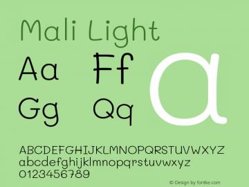 Mali Light Version 1.000; ttfautohint (v1.6)图片样张
