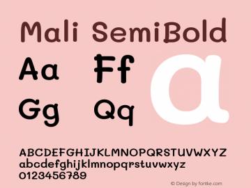 Mali SemiBold Version 1.000; ttfautohint (v1.6)图片样张